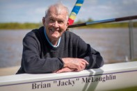 Tailem Bend Rowing Club's president and the new boat that bears his name