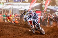 2015 defending MX Nationals champ, Kirk Gibbs of Mount Gambier going hard during round four of the Motul MX Nationals held at Monarto on Sunday May 22.